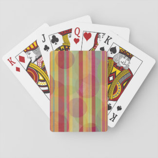 Multicolored stripes and circles playing cards