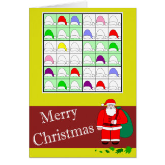 Multicolored Sudoku for Christmas Card