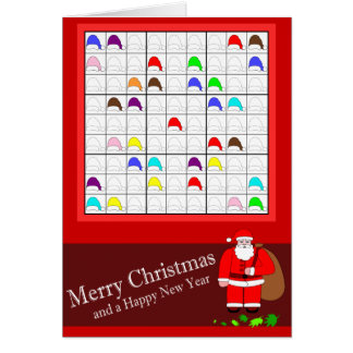 Multicolored Sudoku for Christmas Card