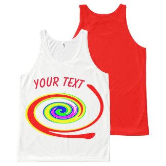 Multicolored swirl All-Over-Print tank top