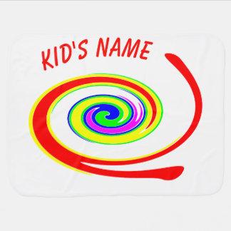 Multicolored swirl baby blanket