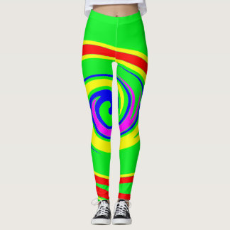 Multicolored swirl leggings