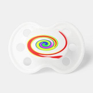 Multicolored swirl pacifier