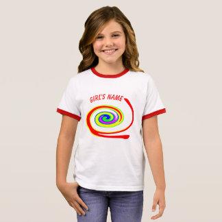 Multicolored swirl ringer T-Shirt