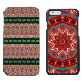 Multicolored trendy pattern incipio watson™ iPhone 6 wallet case