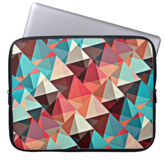 Multicolored triangles laptop sleeve