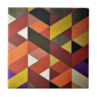 Multicolored Triangular Pattern Tile