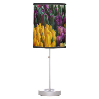 Multicolored Tulips Table Lamp