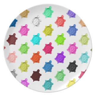 Multicolored Turtle Pattern Plate