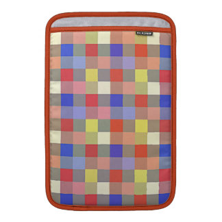Multicolored Vintage Square. Geometric Pattern MacBook Sleeves