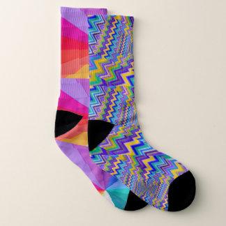 multicolored vortex All-Over-Print Socks, Large Socks