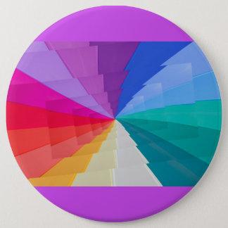 multicolored vortex Colossal, 6 Inch Round Button