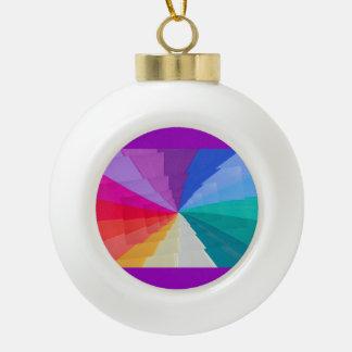 multicolored vortex on Ceramic Ball Ornament