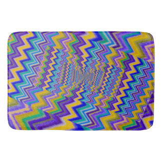 multicolored vortex on large bath mat