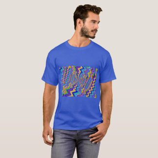 multicolored vortex on Men's Basic Dark  T-Shirt