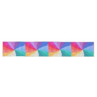 multicolored vortex on table runners