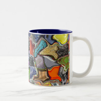 Multicolored Warped Patterned Mug