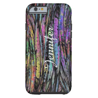 Multicolored, Wispy, Vertical Abstract Art Design Tough iPhone 6 Case