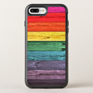 Multicolored Wooden Planks OtterBox Symmetry iPhone 8 Plus/7 Plus Case
