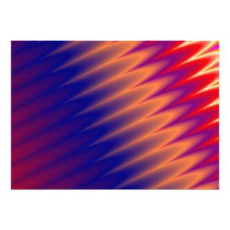 Multicolored zizzag waves background invitations