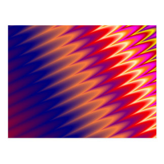 Multicolored zizzag waves background postcards