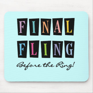 Multicolors Fling Before the Ring T-shirts Mouse Pad