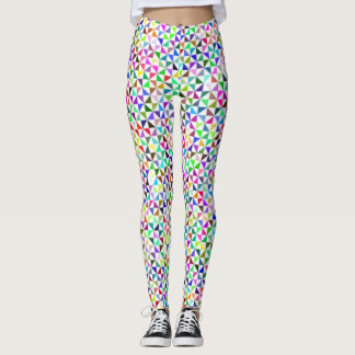 Multicolour Funky Modern Triangles Leggings