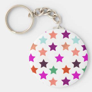 Multicolour Star Pattern Keychain