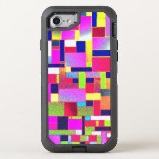Multicoloured bricks art, OtterBox defender iPhone 8/7 case