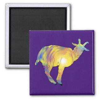 Multicoloured Bright Light Goat Design Magnet