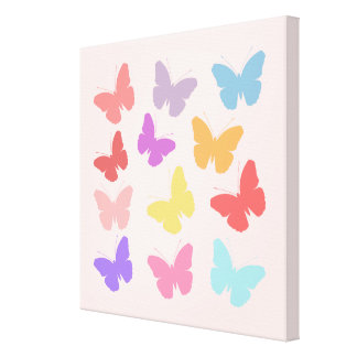 Multicoloured Butterflies Design Canvas Print