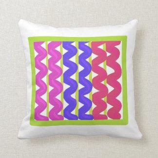 Multicoloured chevron pattern throw pillow