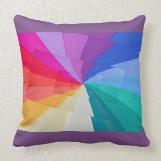 multicoloured effect droste  on cushion