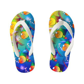 Multicoloured fish bench kid's flip flops