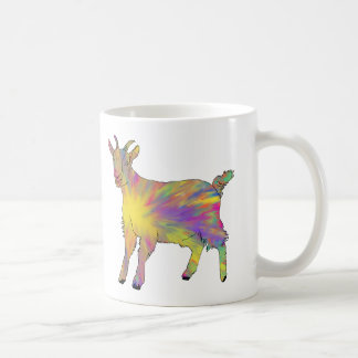 Multicoloured Funny Artsy Goat Animal Art Design Coffee Mug
