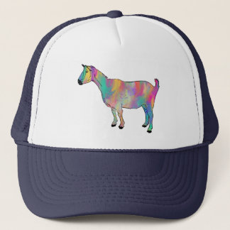 Multicoloured Goat with Paint Splatters Animal Art Trucker Hat