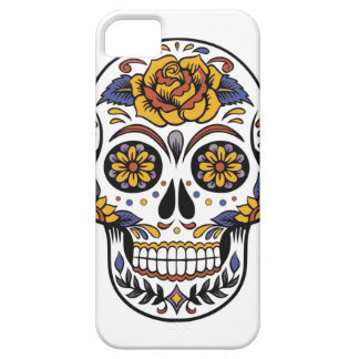 multicoloured sugar skull iPhone 5 case