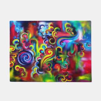Multicoloured Swirls Doormat