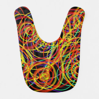 Multicoloured Swirls Indie Art For Baby Design Bib