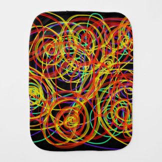 Multicoloured Swirls Indie Art For Baby Design Burp Cloth