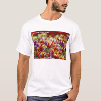Multicoloured tulips  T-Shirt