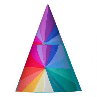 multicoloured vortex  on Custom Party Hat
