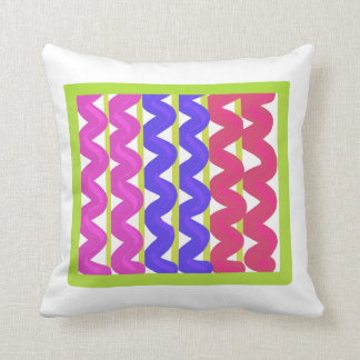 Multicoloured zigzag pillow