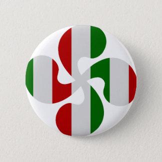 Multicouleurs crosses Basque 2 Inch Round Button