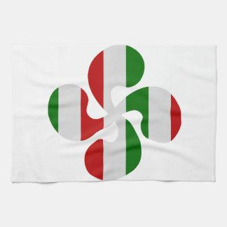 Multicouleurs crosses Basque Kitchen Towel