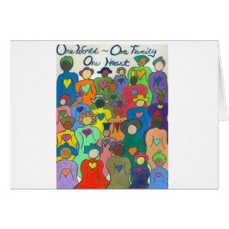 Multicultural, Interracial, Diversity Card