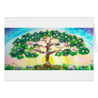 Multicultural Tree of Life - Spring | Blank Card