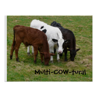 Multicultural? We're Multi-COW-tural! Poster
