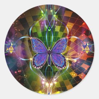 Multidimensional Transformation - Sacred Geometry Classic Round Sticker