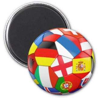 Multiflag Soccer Ball Magnet